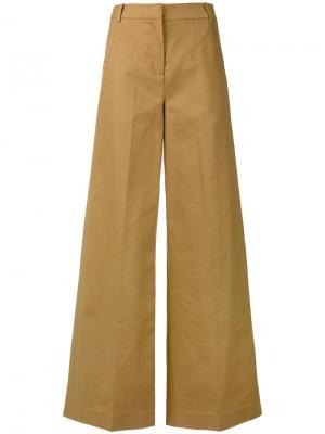 Широкие брюки Erdem. Цвет: телесный
