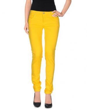 Повседневные брюки FIORUCCI. Цвет: желтый