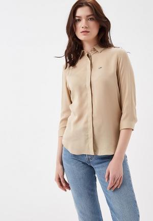 Рубашка Lacoste. Цвет: бежевый
