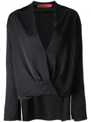 Блузка Luxe Intent с длинными рукавами Manning Cartell. Цвет: чёрный