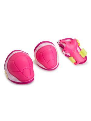 Защита роликовая  Kiddy Start Up. Цвет: розовый, белый, желтый