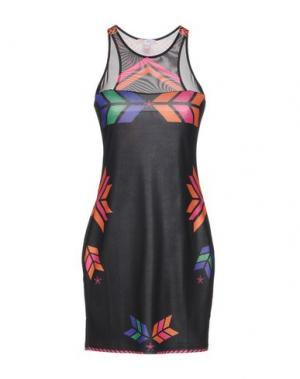Короткое платье AGOGOA. Цвет: черный