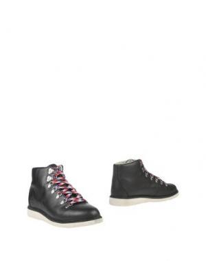 Полусапоги и высокие ботинки RANSOM. Цвет: черный