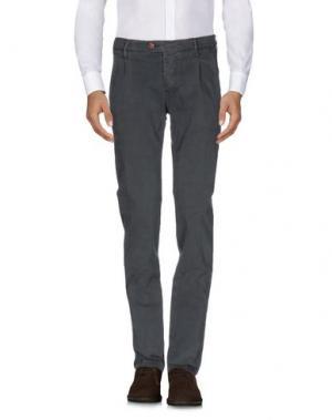 Повседневные брюки OAKS. Цвет: темно-зеленый