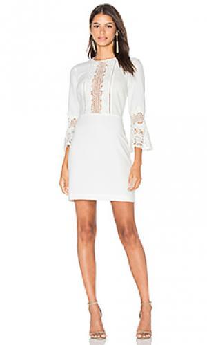 Платье с кружевной отделкой somerset WAYF. Цвет: белый