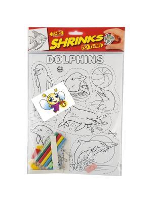 Набор для  творчества Коллекционный Дельфины Значок Светлячок. Цвет: голубой