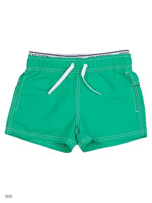 Бордшорты United Colors of Benetton. Цвет: зеленый