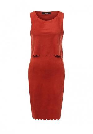 Платье Mim. Цвет: оранжевый