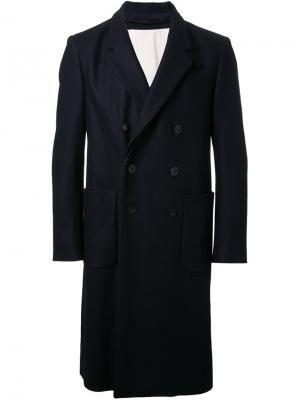 Двубортное пальто 08Sircus. Цвет: чёрный