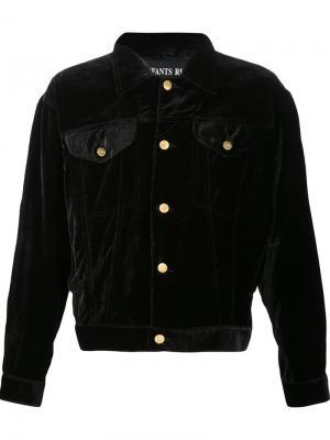 Velvet denim-style jacket Enfants Riches Deprimes. Цвет: чёрный