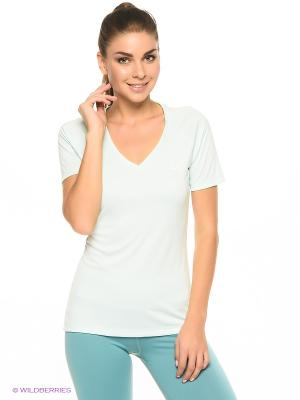 Футболка CLUB V-NECK TOP ASICS. Цвет: голубой