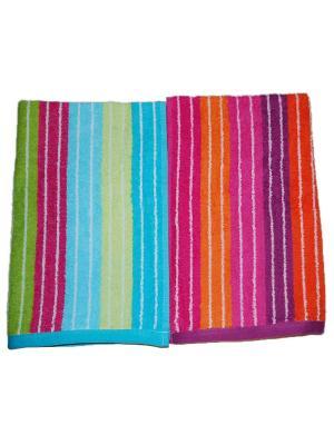 Комплект полотенец 2пр 40х65 La Pastel. Цвет: оранжевый, голубой