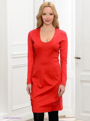 Платье Anna Rachele Jeans. Цвет: красный