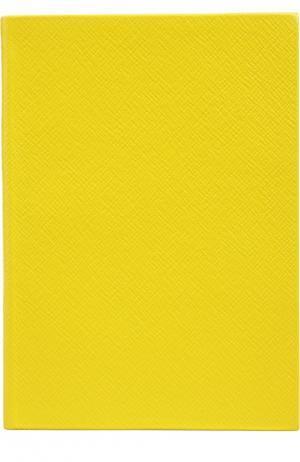 Записная книжка Smythson. Цвет: желтый