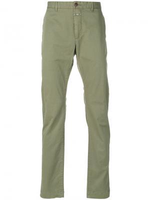 Узкие брюки-чинос Closed. Цвет: зелёный