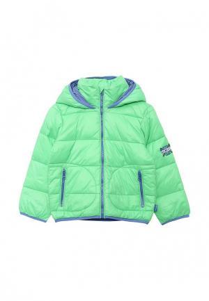 Куртка утепленная Gulliver. Цвет: зеленый