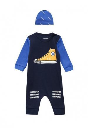 Комплект для новорожденного Converse. Цвет: синий