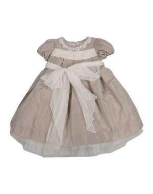 Платье LA STUPENDERIA. Цвет: голубиный серый