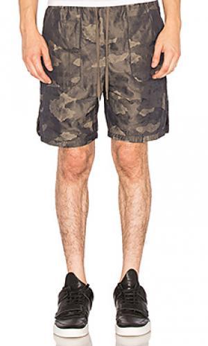 Дорожные шорты с накладными карманами Helmut Lang. Цвет: оливковый