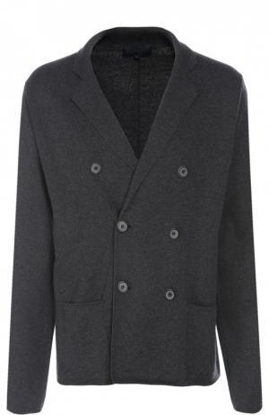 Вязаный пиджак Lanvin Contemporary. Цвет: серый