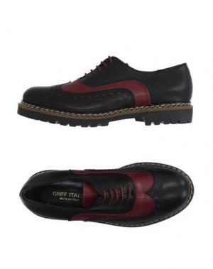 Обувь на шнурках GRIFF ITALIA. Цвет: красно-коричневый