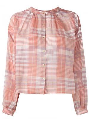 Рубашка в клетку Ulla Johnson. Цвет: розовый и фиолетовый