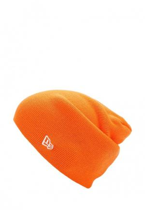 Шапка New Era. Цвет: оранжевый