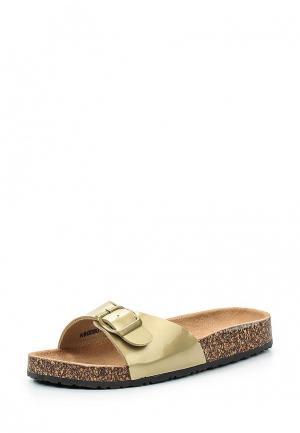Шлепанцы Retro Shoes. Цвет: золотой