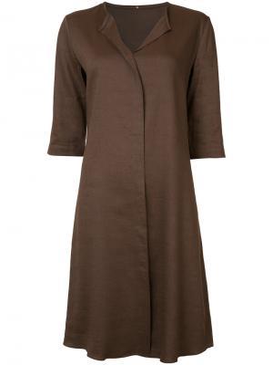 Платье-рубашка Peter Cohen. Цвет: коричневый
