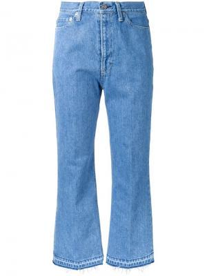 Расклешенные джинсы Artizanaru Cityshop. Цвет: синий