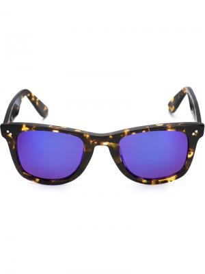 Солнцезащитные очки Charles Krewe Du Optic. Цвет: чёрный