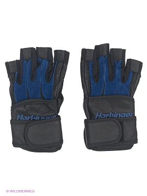 Перчатки для фитнеса мужские Bioform WristWrap HARBINGER. Цвет: черный, синий