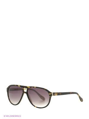 Солнцезащитные очки AN 737 02 Vivienne Westwood. Цвет: темно-коричневый, желтый