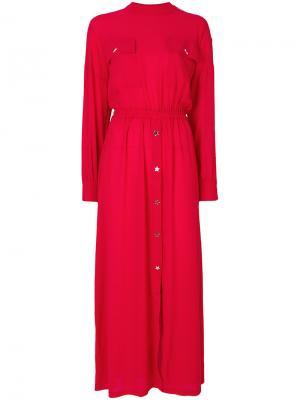 Платье-рубашка Gaelle Bonheur. Цвет: красный