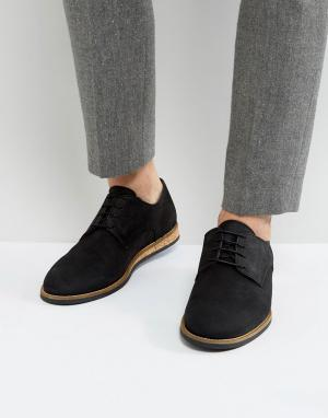 Zign Туфли на шнуровке с пробковой подошвой. Цвет: черный