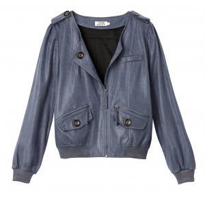 Куртка на молнии MOLLY BRACKEN. Цвет: белый,сине-серый