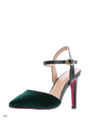 Туфли VIVIAN ROYAL. Цвет: темно-зеленый