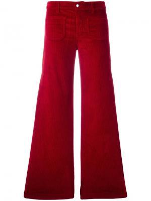 Вельветовые расклешенные брюки The Seafarer. Цвет: красный