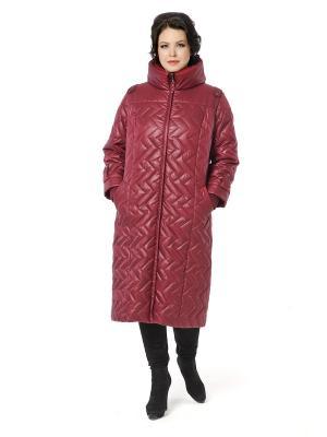 Стеганое пальто DizzyWay. Цвет: бордовый