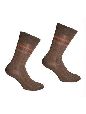 Носки, 2 пары Master Socks. Цвет: терракотовый, оранжевый
