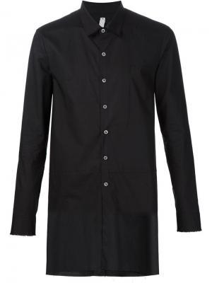 Удлиненная рубашка Damir Doma. Цвет: чёрный