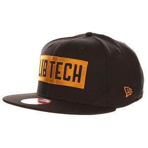 Бейсболка с прямым козырьком  Knockout New Era Black Lib Tech. Цвет: черный