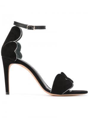 Босоножки на шпильке с открытым носком Jean-Michel Cazabat. Цвет: чёрный