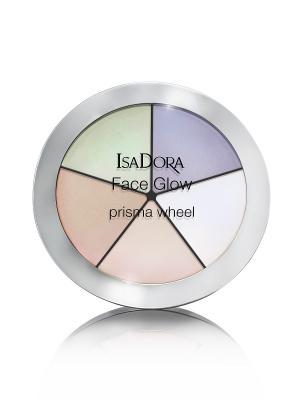 Палетка хайлайтеров Face Glow 50 18гр ISADORA. Цвет: зеленый, белый, сиреневый