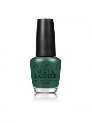 Opi Лак для ногтей Stay Off the Lawn!!, 15 мл. Цвет: темно-зеленый