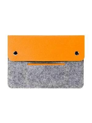 Чехол фетровый для планшета 8 дюймов IQ Format. Цвет: серый, оранжевый