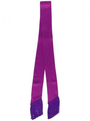 Узкий шарф с бахромой Racil. Цвет: розовый и фиолетовый