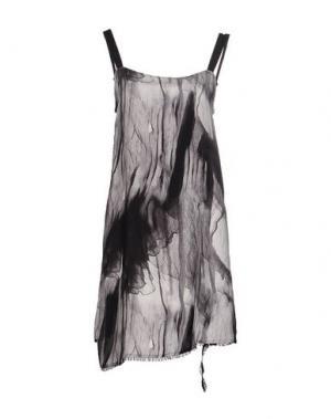 Короткое платье INSIDEOUT. Цвет: серый