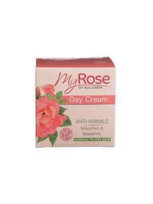 Крем для лица дневной против морщин Anti-Wrinkle Day Cream My Rose OF BULGARIA Lavena. Цвет: бледно-розовый