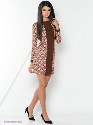 Платье La Fleuriss. Цвет: коричневый